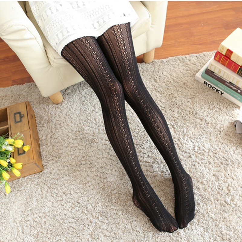 Spring Autumn Women Pantyhose Lace Vertical Striped Nylon Tights for Female Ladies Sexy Fashion Pantyhose Collant Femme 2021
