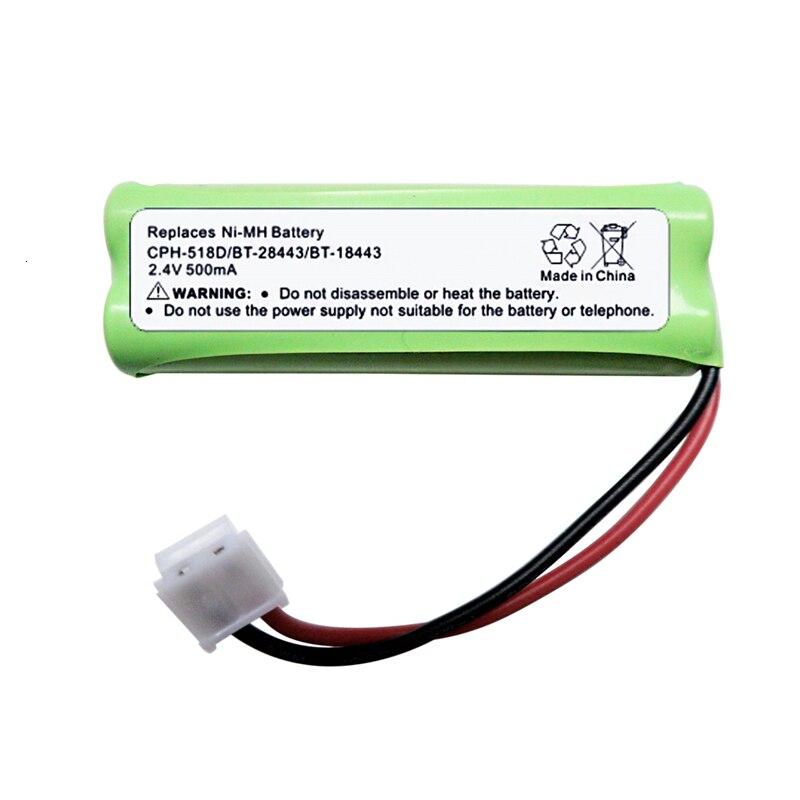 A baixa-energia da eficiência elevada de teranty 2.4v 500mah substitui a bateria recarregável de ni-mh para CPH-518D/BT-28443/BT-18443