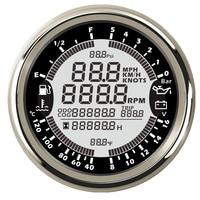 Universal 6 in 1 Multi-Function Gauges Gps Speedometer Tachometer Waterproof Fuel Level Water Temp Oil Pressure 0-10Bar for Boat