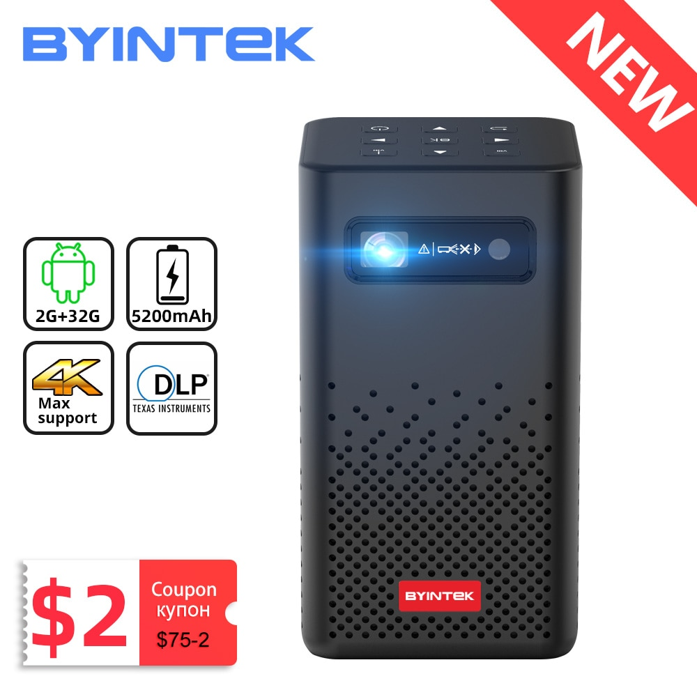 BYINTEK P20 Mini Portable Pico Smart Android 1080P  LED Home Theater DLP Projector for Mobile Smartp