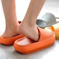 women men summer fashion slippers slide sandals beach high heels shower thick soft sole ladies boys girls bathroom shoes
