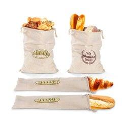 4 pçs cozinha saco de pão de linho natural reutilizável portátil pão drawstring pouch saco de armazenamento alimentos doces organizador sacos recipiente