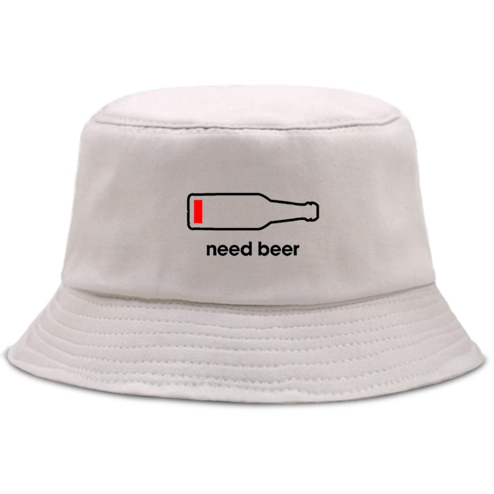 Beer Bottle Personalized Letter Printing Bucket Hat Men Fashion Beach Sun Women'S Fisherman Cap Hip Hop Fishing Women Bob Hats