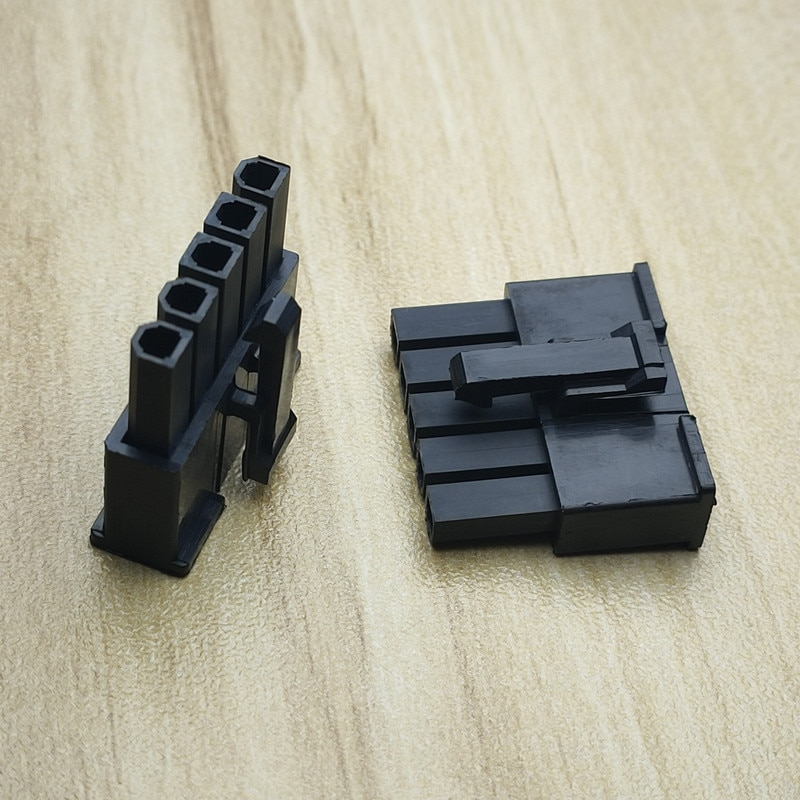 50PCS/1Lot 5557 4.2mm Single Row Black 1*5Pin 5P Male Plug Plastic Shell Housing For Car Computer Power Connector for crown reiz electronic steering computer plug electronic power steering computer plug connector