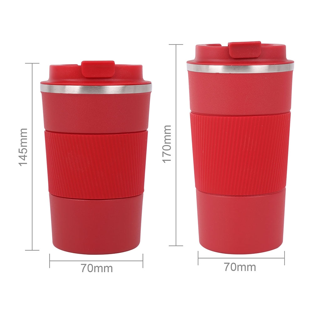 Coffee Mug Multipurpose Stainless Steel 380ml/510ml Water Bottle Portable Antiskid Coffee Bottle For Travel Outdoor Camping  - buy with discount