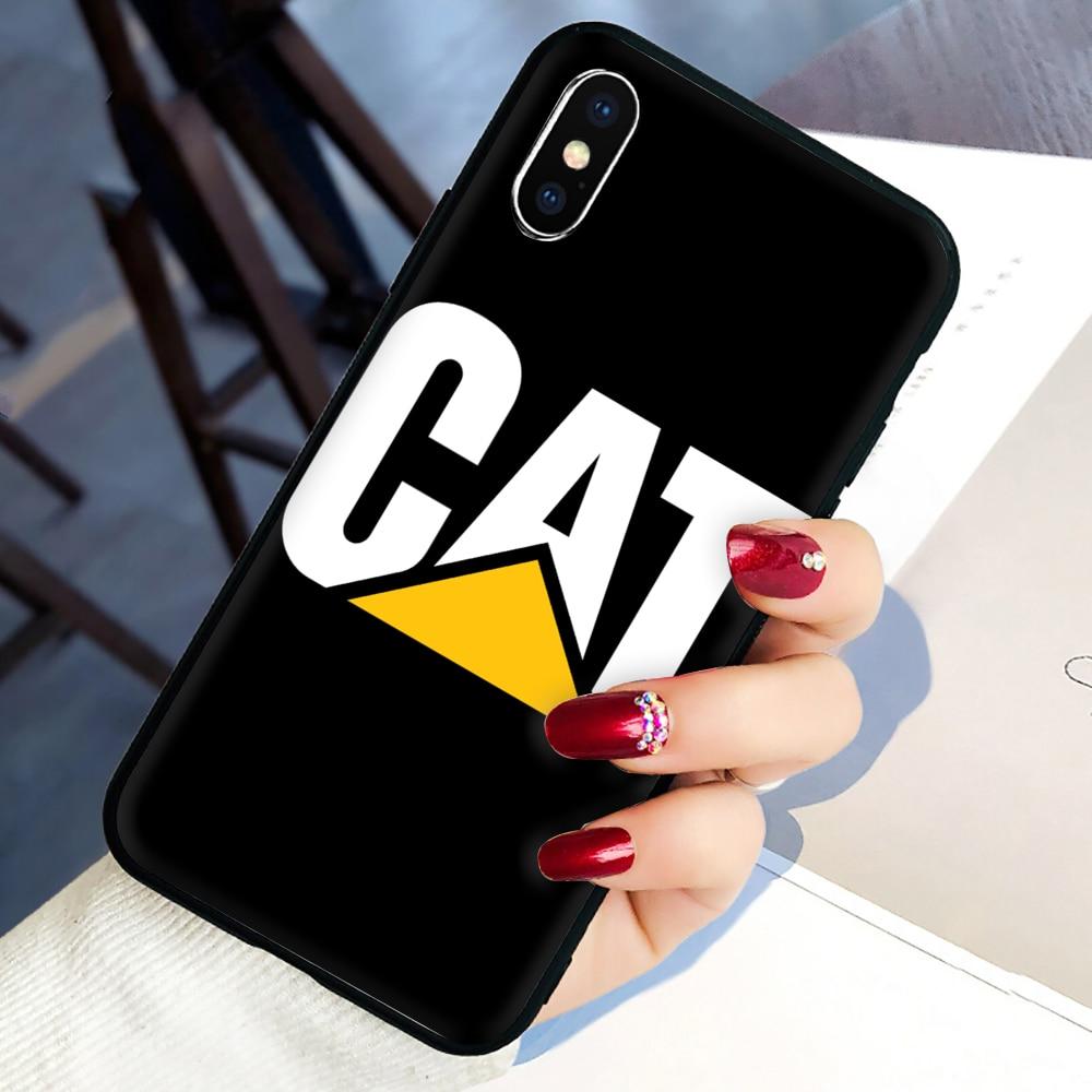 Funda de silicona suave con logotipo de Caterpillar para iphone 5 5S SE 2020 6 6S 7 8 plus X XR XS 11 Pro Max
