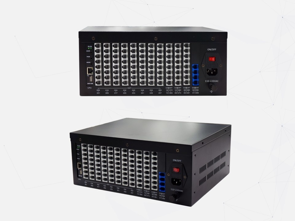 EXCELLTEL براعة PBX TP96-448 مرنة البرمجة الهاتف تبادل مجموعة واسعة تطبيق