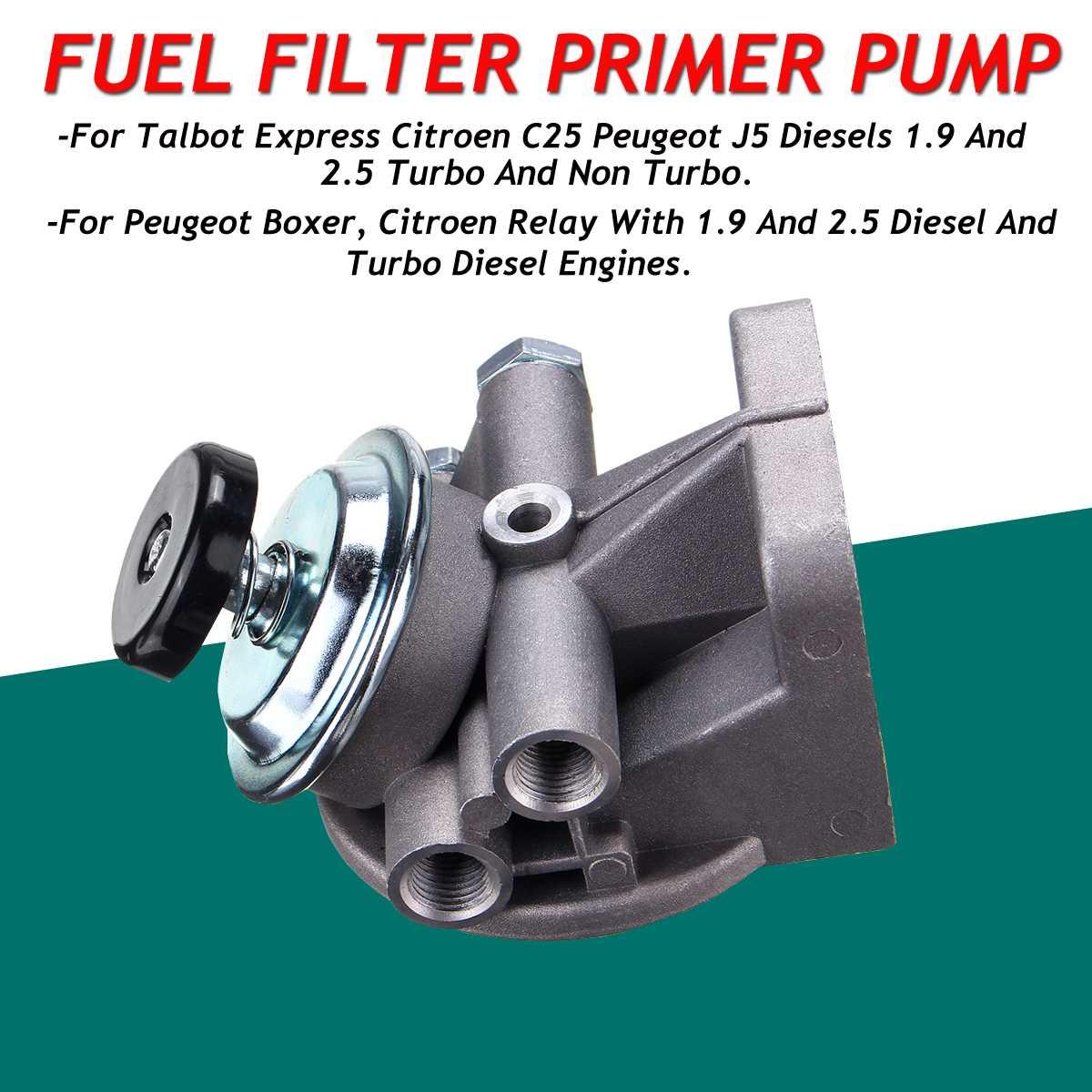 Серебряный Новый автомобильный дизельный топливный фильтр топ с подкачивающий насос для Citroen C25 реле для peugeot J5 Boxer 1185 9401904138 5616776