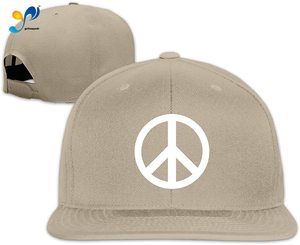 Yellowpods White Peace Sign Men's Relaxed Medium Profile Adjustable Baseball Cap