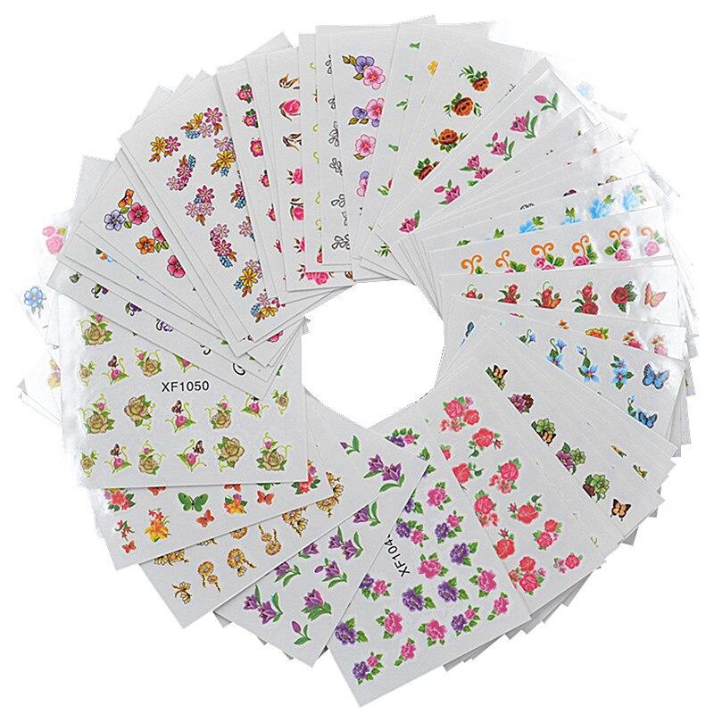 60 листов, переводные наклейки для ногтевого дизайна
