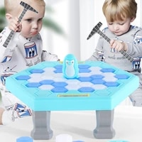 hot sale parent child interactive mini kids save penguin ice block breaker trap toys funny table game toy stress reliever decor