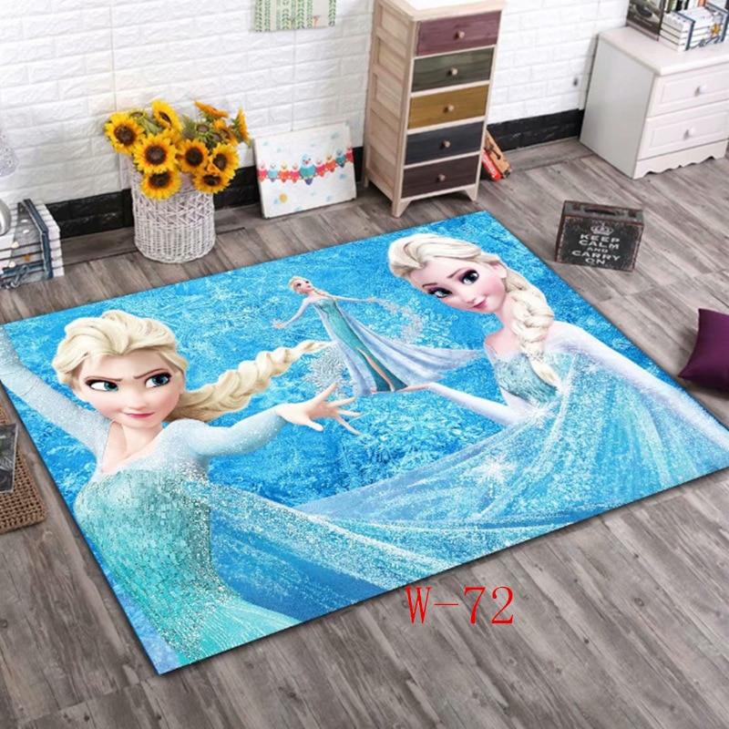 Детские коврики Disney Frozen Elsa, детские коврики для спальни, дома, гостиной, напольный коврик, большие современные милые коврики для дверей, для ...