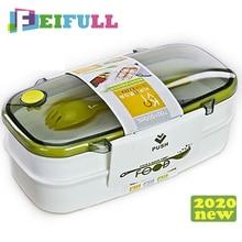 Dla dzieci pudełka na lunch Bento pudełko na lunch 2 warstwy pojemnik na drugie śniadanie do szkoły z łyżeczką pojemniki do pakowania z uszczelką pasek do układania w stosy
