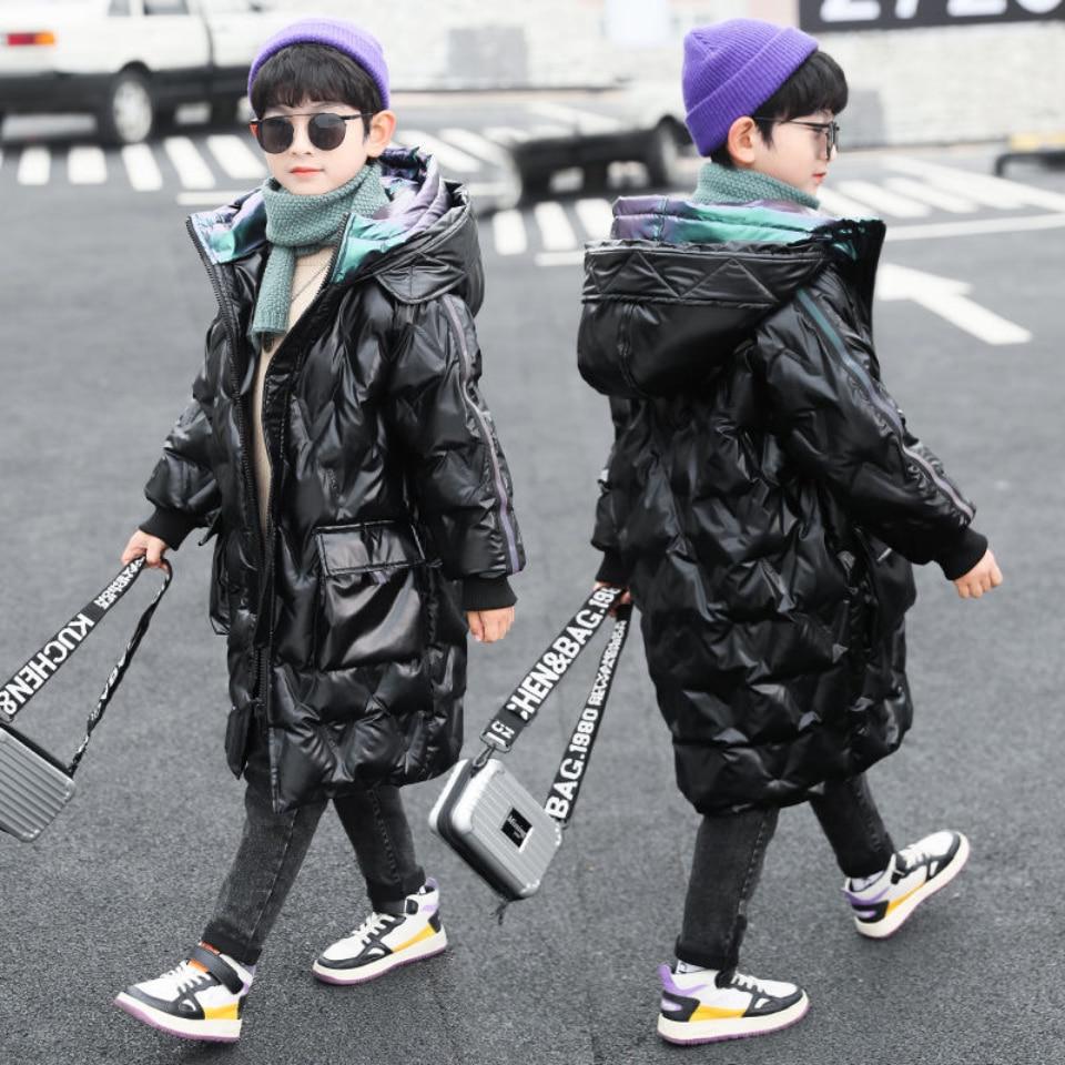 2021 الشتاء بارد الفتيان ستر معاطف الدافئة يندبروف السترات أبلى سماكة مقنعين الطفل الأولاد ملابس خارجية ل 4 6 8 10 12 14Yrs