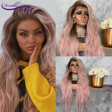 Frontal Wig Brazilian Wavy Lace Front Human Hair Wigs For Black Women Omber Pink Colored 13x4 Lace F