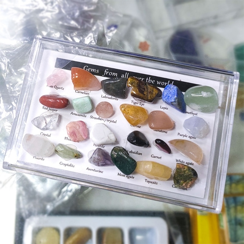 2Healing Crystals Chakra Stones Colorful Gems Ore Specimens Polished Stone 95AA  - buy with discount