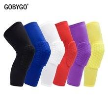 GOBYGO 1 pz ginocchiere a nido d'ape manica pallacanestro tutore ginocchiera elastica equipaggiamento protettivo supporto schiuma Patella supporto pallavolo