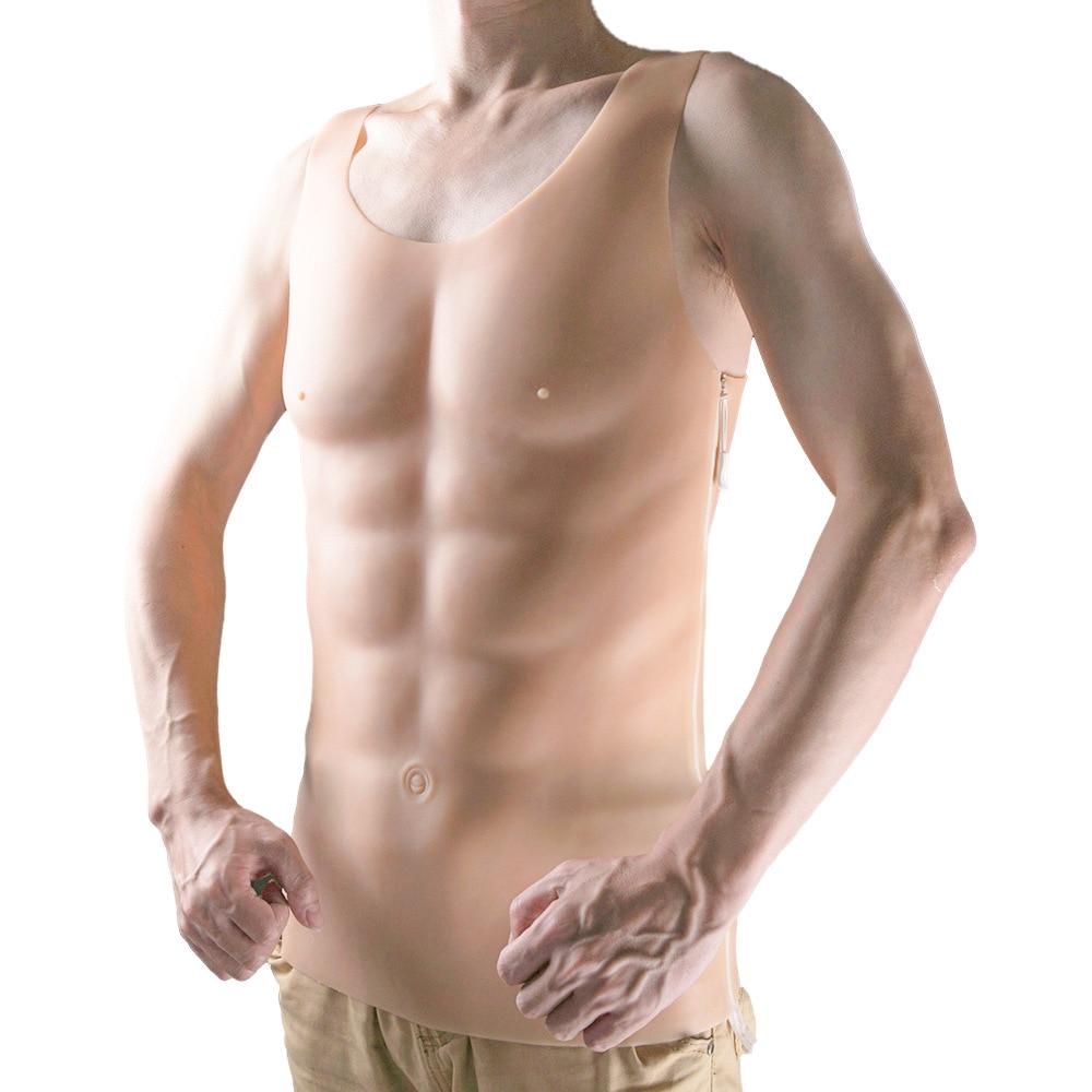 1750g رجل قوي قطعة كبيرة كاذبة الصدر العضلات رجل سيليكون وهمية الصدر العضلات بكلوراليس فستان الحفلات هالوين المشكل الرجال ارتداءها