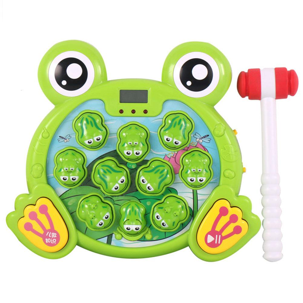 GloryStar Cartoon Frogs Shape Hit Hamster Game Playing Music Interactive Toy for Baby Kids