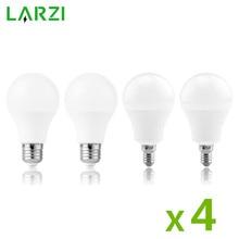 4 pièces lampe à LED ampoules E27 E14 3W 9W 12W 15W 18W 24W 220V LED ampoule haute luminosité Lampada pour la maison Bombillas blanc froid chaud