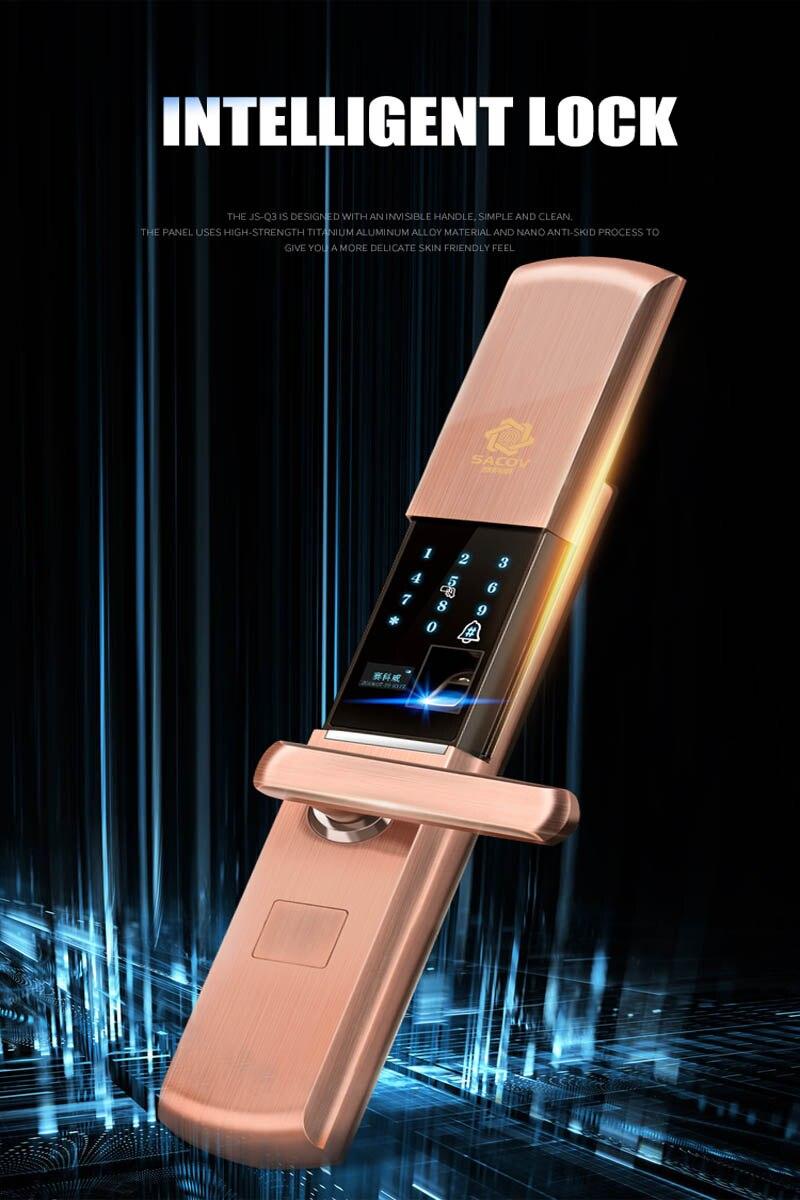 الأمن الإلكترونية قفل باب ذكي قفل ببصمة الأصبع APP اللمس كلمة السر لوحة المفاتيح بطاقة بصمة 5 طريقة قفل الباب الإلكترونية