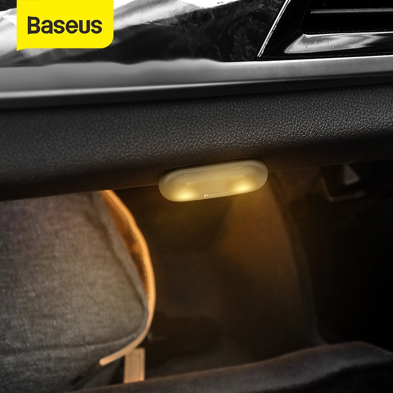 Baseus Car Light LED Decorative lamp 2PCS Magnetic Styling Touch Night Light Ceiling Lamp For Car In