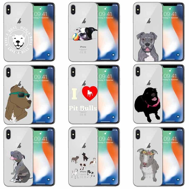 Питбуль милая собака питомец питбуль силиконовый Suave TPU чехол для телефона для iphone 5 5s 6 6s 7 8 Plus X XS XR XSMax 11 Pro