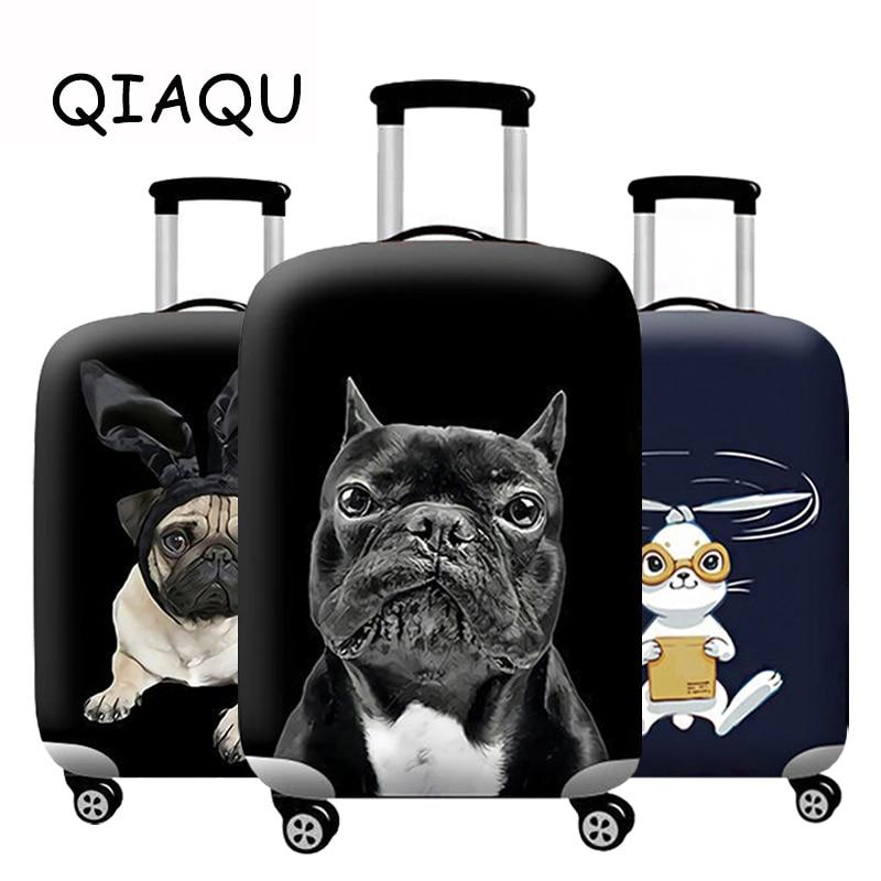 Accesorios de viaje maleta cubierta Animal patrón equipaje cubierta protectora dibujos animados bolsa de polvo elástico funda para 18-32 pulgadas cremallera