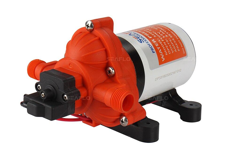 SEAFLO 3 Chamber Water Pump 12v 45PSI 3.0 GPM Self Priming Marine Diaphragm Pump Caravan Boat RV Camper 8.0A