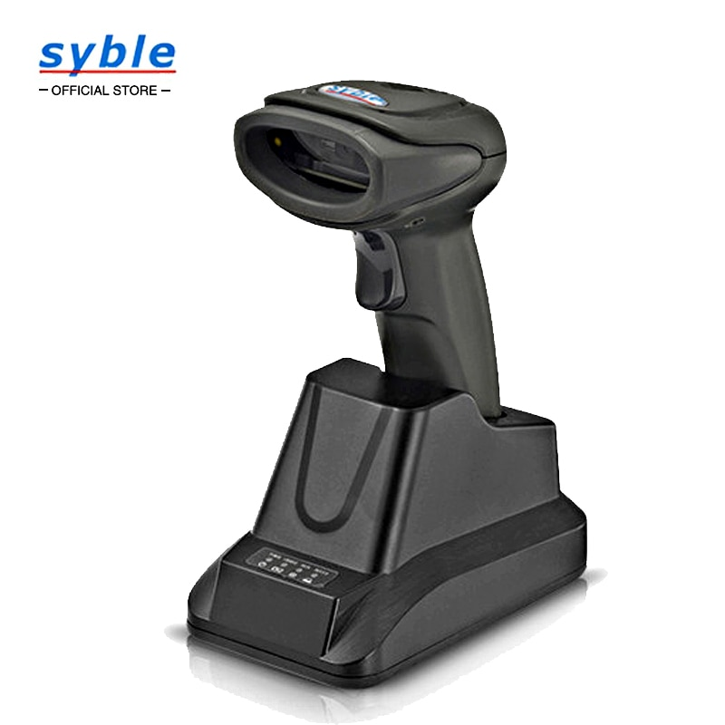 2D Barcode Scanner Wireless Handheld Automatic QR Data Matrix PDF417 Bar Codes Imager for Mobile Payment XB-6266BT