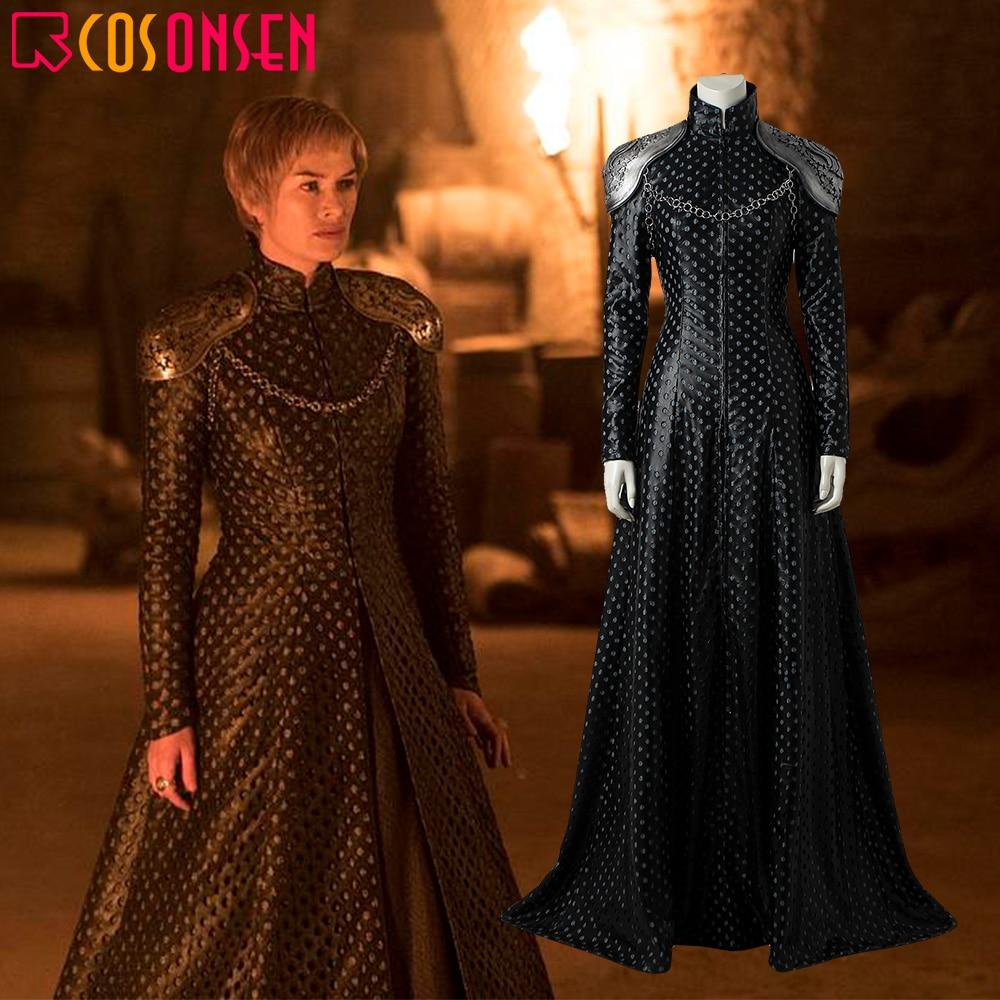 Cersei Lannister Cosplay Juego de tronos temporada 7 disfraz adulto Halloween disfraz reina Cersei vestido Lannister COSPLAYONSEN