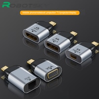 Видеоконвертер с Type C на HDMI-совместимый/VGA/DP / RJ45 / Mini DP 4k 60 Гц, адаптер Type-C для Macbook Huawei Mate 30