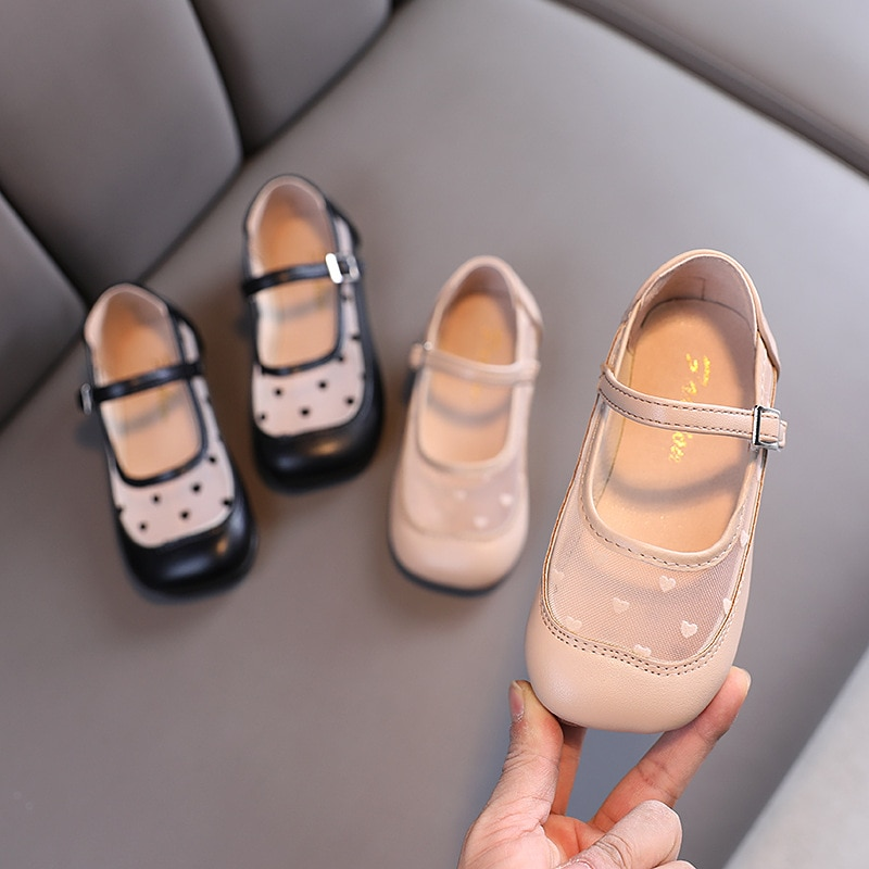 New Girl Leather Shoes Fashion Girls Four Seasons Children Pu Flat Shoes Little Girls Soft Sole All-Match Princess Shoes 21-30 afdswg pu kids shoes girls fashion soft bottom princess shoes new bow leather shoes childrens shoes little girl shoes
