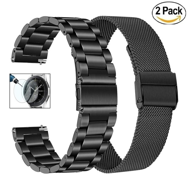 22mm bracelet strap for xiaomi huami amazfit pace stratos 2 gtr 47mm band for samsung gear s3 pulsera for huawei 2 pro gt correa Stainless steel Strap For Xiaomi Huami Amazfit GTR 47mm 42mm Band Bracelet For Amazfit Stratos 3 GTS2 GTR2 huawei GT Watchbands