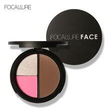 Focallure multifonction blush palette longue durée visage miroitant 3 couleurs joue bronzant surligneur minéral contour palette FA20