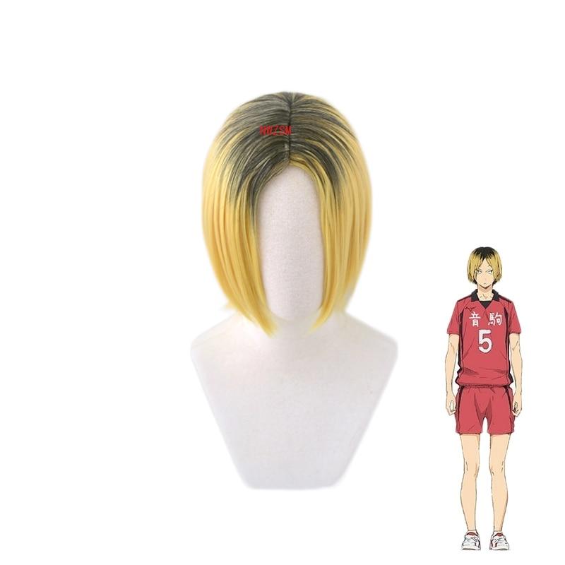 Anime Haikyuu!! Nekoma Kenma Kozume Short Wig Cosplay Costume Heat Resistant Synthetic Hair Haikiyu Men Wigs