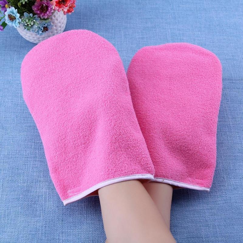1 par de guantes de protección de cera parafina guantes de mano de protección de cera para calentador de cera profesional Mini SPA guantes de algodón