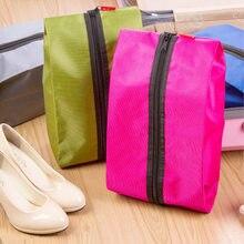휴대용 방수 여행 신발 가방 나일론 foldable 주머니 비치 스토리지 가방 휴대용 가방 방진 신발 주최자