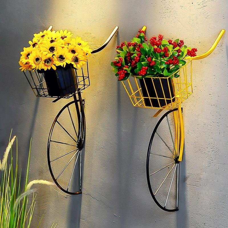 Parte delantera de bicicleta en hierro forjado para decoración de pared, frontal de bici colgante con diseño creativo y estilo retro perfecto para decorar bares, cafeterías y salones de té