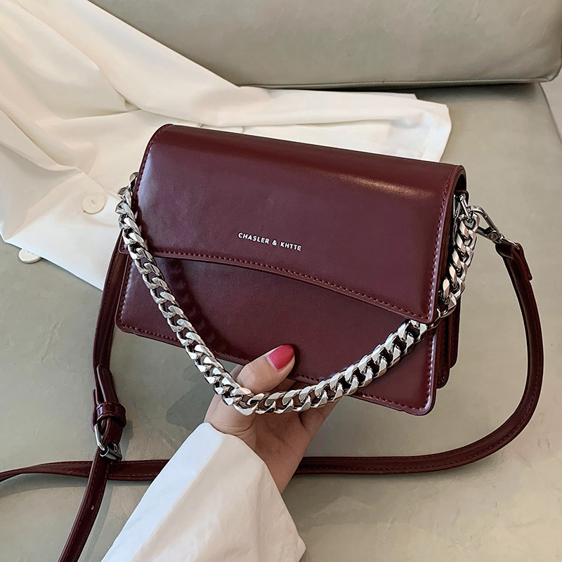 с доставкой  Trending PU Leather Crossbody Bags for Women 2020 Small Branded Shoulder Handbags Womens Trend Hand Bag