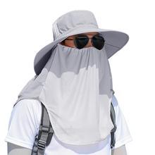 Sunscreen Fishing Suns Anti Uv Daiva Protection Face Neck Flap Sun CapHeadband Sun Rain Hat Cap Fishing Hiking 2020