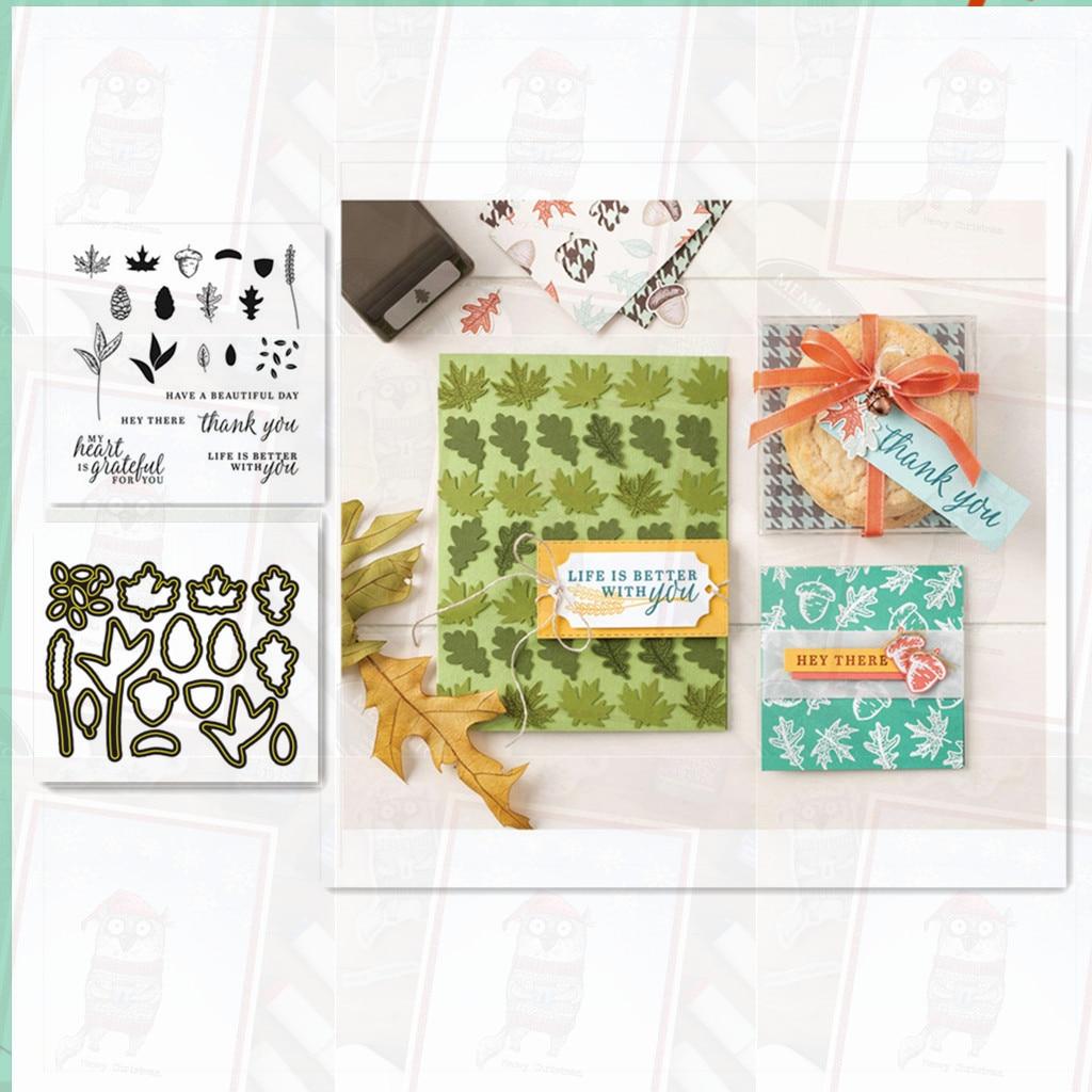 Набор вырубных штампов и печатей Скрапбукинг ремесло высечки трафарет карты сделать листовая форма декоративный шаблон печатей и штампов ...