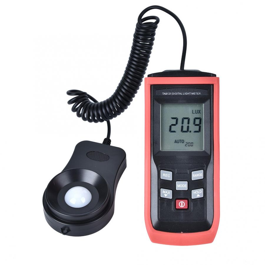 TA8131-Alta Precisión Digital medidor de luz luxómetro iluminación Metro fotómetro