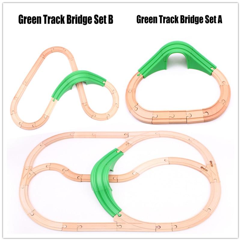 trem de madeira conjunto de trilha simples trem eletrico magnetico ferroviario compativel
