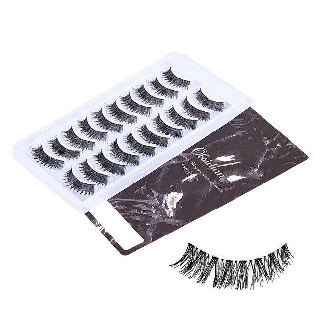 Faux Mink Hair False Eyelashes Wispy Criss-cross Fluffy Thick mink lashes Natural Handmade Lash Cruelty-free Eye Makeup Tools