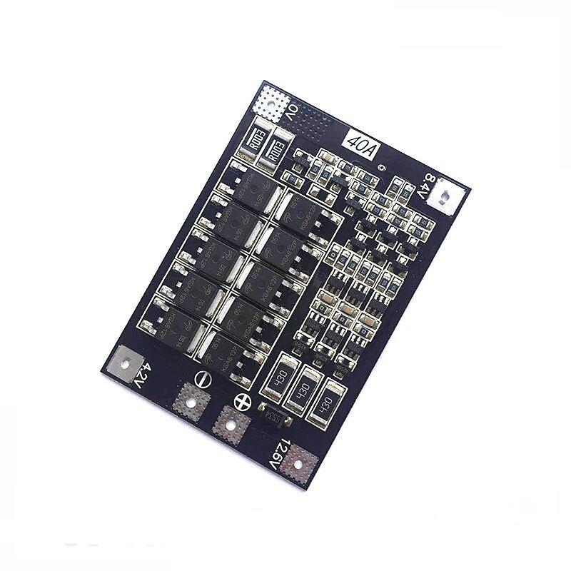 BMS 2S 3S 4S 15A 20A 40A 50A 3,7 V 18650 Li-ion protección de la batería de litio placa de circuito módulo Pcb cargador Lipo Bms balanceador
