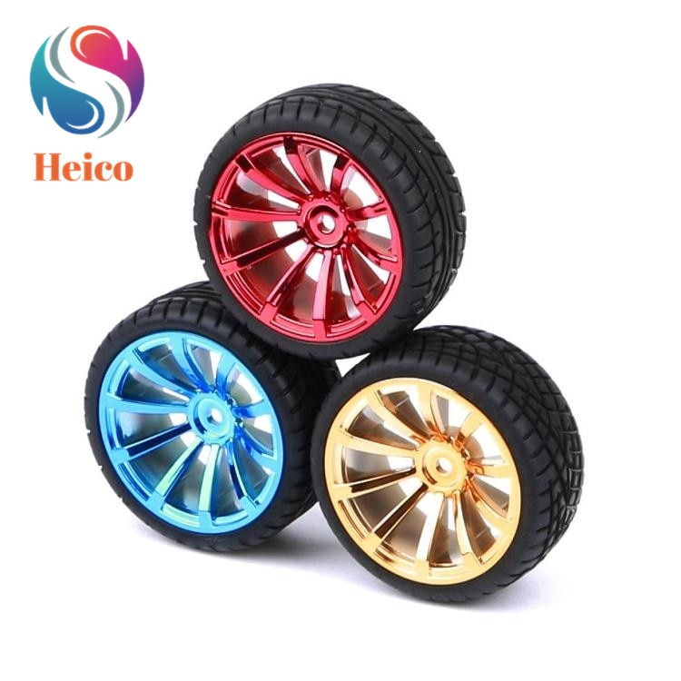 65mm Rubber Wheel RC Model Tire Lengthen 3/4/5/6mm Copper Coupling Hex Connection For Arduino DIY Smart Car Chassis