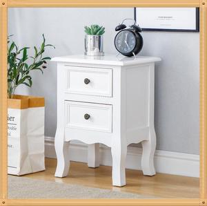 Floor Stand Bedside Cabinets 35*30*50cm Modern Bedside Table Bedroom Table Cabinet Nightstand With 2 Storage Drawers HWC