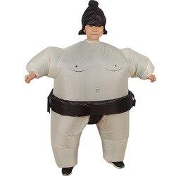 Crianças mascote gordo sumo inflável traje meninos meninas japonês wrestling festa vestir trajes halloween cosplay brinquedos dos desenhos animados