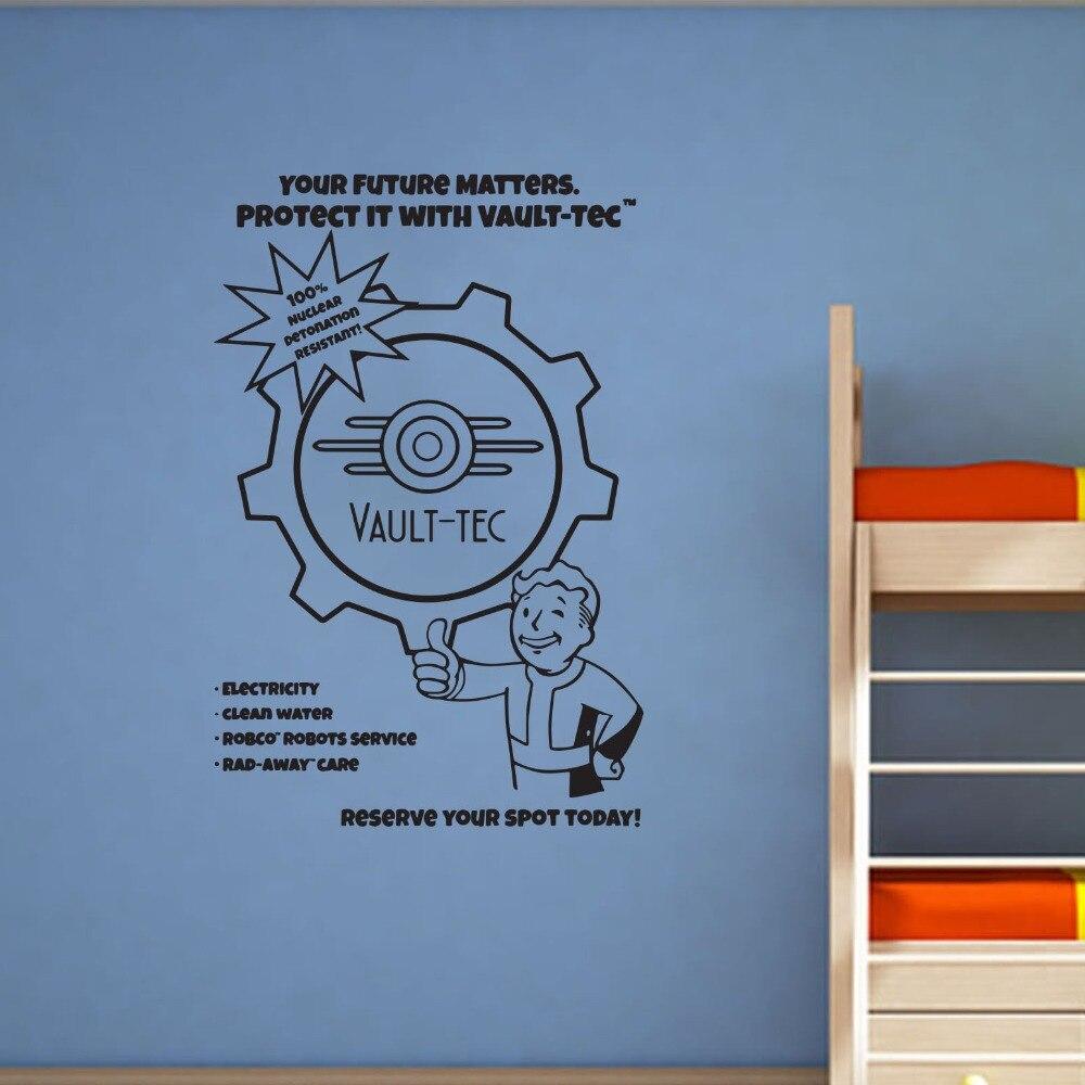 Виниловая настенная наклейка Fallout для декора детских комнат, для мальчиков, гостиной, спальни, модель D805, Настенная Наклейка на стену, ПВХ, по...